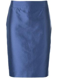 юбка-карандаш с эффектом металлик Armani Collezioni