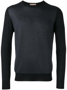 трикотажный свитер с вышивкой Cruciani