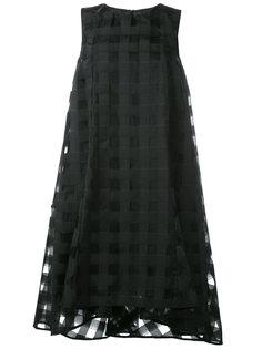 прозрачное платье с узором в клетку Ultràchic