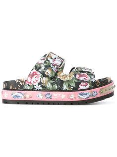 сандалии с цветочным принтом Alexander McQueen