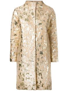 жаккардовое пальто с отделкой металлик  Gianluca Capannolo
