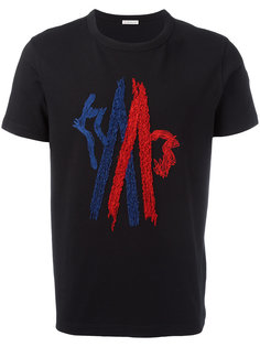 футболка с простроченным логотипом Moncler