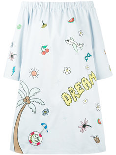 платье с открытыми плечами Mira Mikati