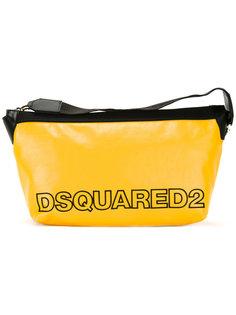 двухцветная косметичка с логотипом Dsquared2