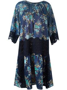 платье с цветочным узором и кружевом Twin-Set