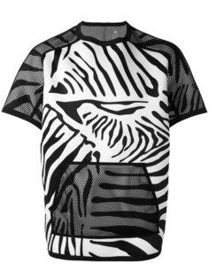 футболка с зебровым принтом Adidas By Kolor