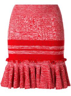 трикотажная юбка с баской Alexander McQueen