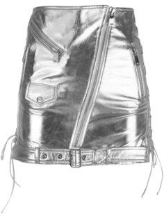 байкерская мини-юбка Manokhi