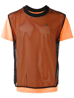 футболка с сетчатой панелью Adidas By Kolor