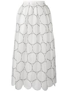 пышная юбка с геометрическим узором Rochas