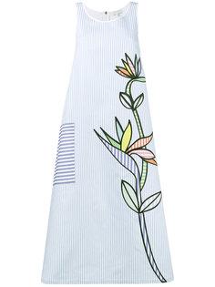 платье миди с цветочной вышивкой Mira Mikati