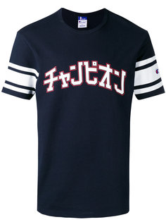 футболка с полосатым принтом Champion