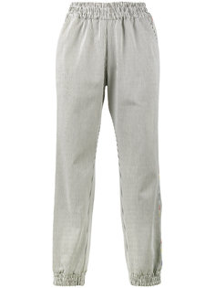 полосатые спортивные штаны с вышивкой Mira Mikati