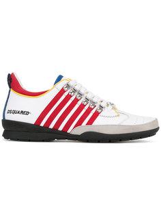 полосатые кроссовки на шнуровке Dsquared2