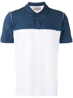 двухцветная рубашка-поло Canali