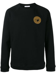logo print sweatshirt Versace Collection