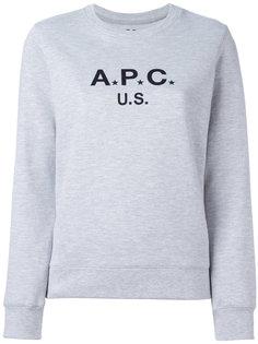 толстовка с принтом-логотипом A.P.C.