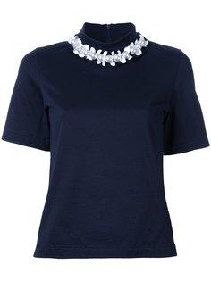 футболка с декорированной горловиной Muveil