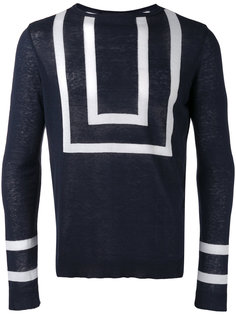 striped knitted sweater Christian Pellizzari