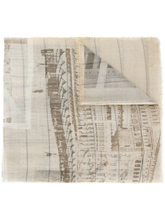 landscape print scarf Al Duca D'Aosta 1902