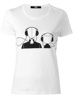 футболка с графическим принтом Karl Lagerfeld