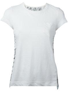 футболка с рисунком и вырезом сзади Sacai