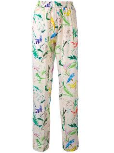 брюки с цветочным узором Nº21