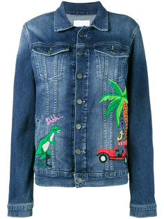 rainforest embroidered denim jacket  Mira Mikati