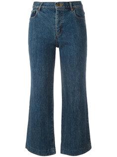 расклешенные укороченные джинсы A.P.C.