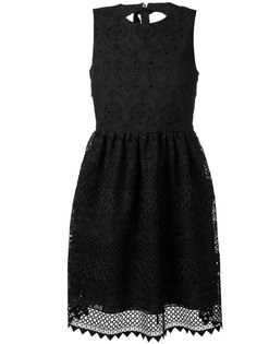 вышитое платье с расклешенной юбкой Nº21