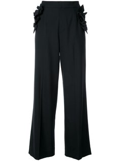 расклешенные брюки с оборками Muveil