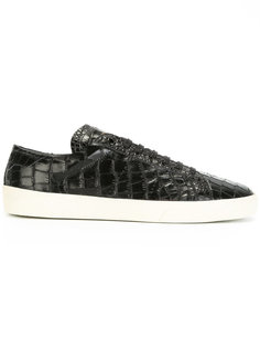 croc-effect trainers Saint Laurent