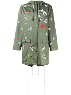 embroidered hooded parka Mira Mikati