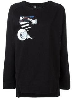 planet print sweatshirt Y-3