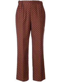прямые брюки с принтом Muveil