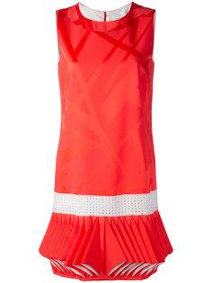 платье с плиссированным подолом Capucci