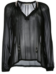 sheer open neck blouse Amen Amen.