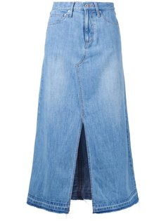 юбка А-образного силуэта со шлицей спереди Muveil