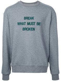 slogan front sweatshirt Juun.J