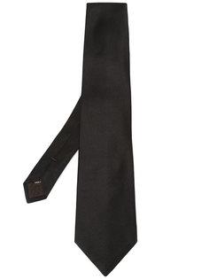 однотонный галстук Canali