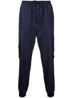 спортивные штаны в тонкую полоску Juun.J