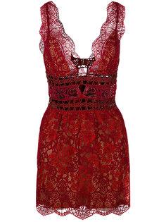 прозрачное платье из цветочного кружева For Love And Lemons