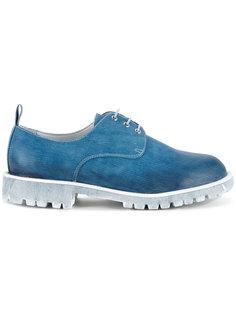 ботинки-дерби с выделкой под деним Diego Vanassibara