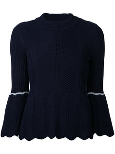 bell sleeve ribbed jumper Loveless