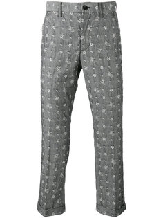 вышитые брюки Aloha Sacai