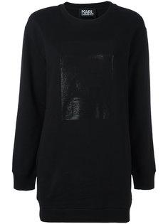 свитер с блестящей отделкой Karl Lagerfeld