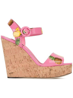босоножки с рисунком из ананасов Dolce & Gabbana