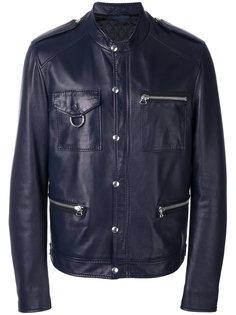 кожаная куртка на кнопках Lanvin