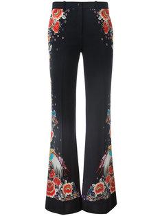 брюки с цветочным принтом Roberto Cavalli