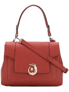 сумка на плечо с фирменной бляшкой Trussardi
